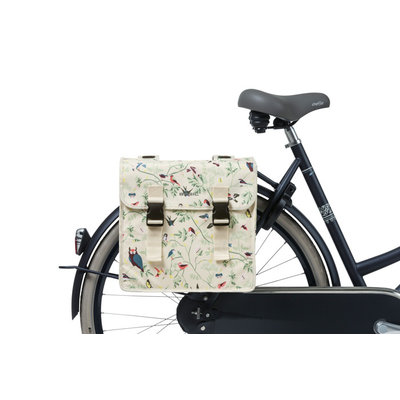 Basil Wanderlust - doppelte Fahrradtasche - 35 Liter- ivory