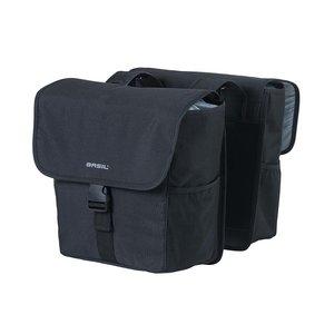 GO - double bicycle bag - black
