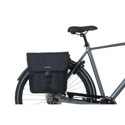 Basil GO - dubbele fietstas - 32 liter - zwart