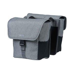 Basil GO - double bicycle bag - 32 liter - grey