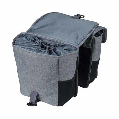Basil GO – doppelte Fahrradtasche – 32 Liter - grau