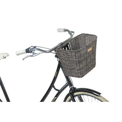 Basil Bremen Rattan Look FM – fietsmand – voorop - donkerbruin