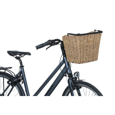 Basil Bremen Rattan Look KF - bicycle basket - front - brown