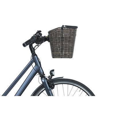 Basil Bremen Rattan Look KF - Fahrradkorb - vorne - dunkelbraun
