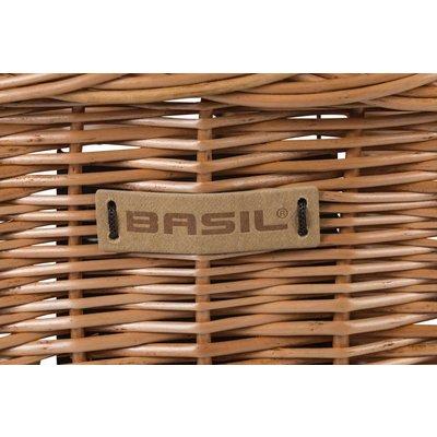 Basil Bremen Wicker KF - fietsmand - voorop - natuur