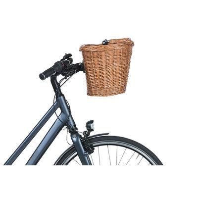 Basil Bremen Wicker KF - bicycle basket - front - nature