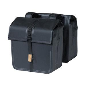 Basil Urban Dry - doppelte Fahrradtasche - 50 Liter - schwarz