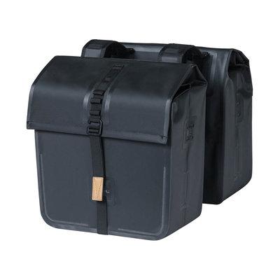 Basil Urban Dry - dubbele fietstas - 50 liter - zwart