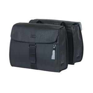 Noir - double bicycle bag - black