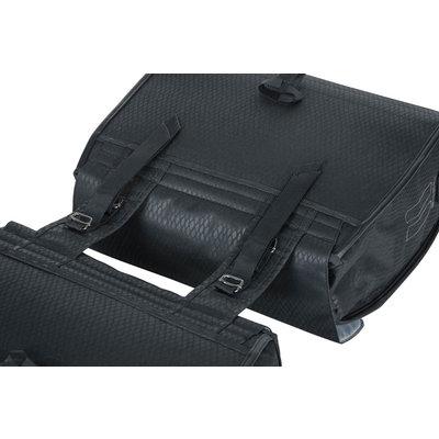 Basil Noir - doppelte Fahrradtasche - 38 Liter - schwarz