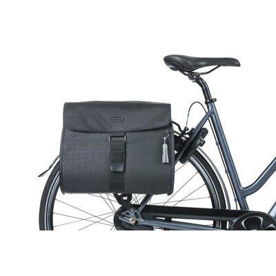 Basil Noir - dubbele fietstas - 38 liter- zwart