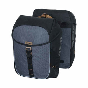 Miles - double bicycle bag - black/grey