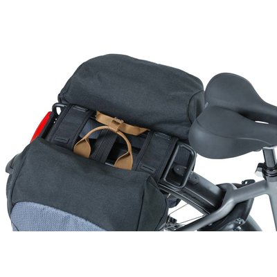 Basil Miles - double cycle bag - 34 liter - black/grey
