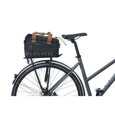 Basil Miles - bagagedragertas - 7 liter - zwart/grijs