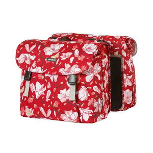 Magnolia - double bicycle bag - red