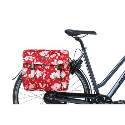 Basil Magnolia - dubbele fietstas - 35 liter - poppy red