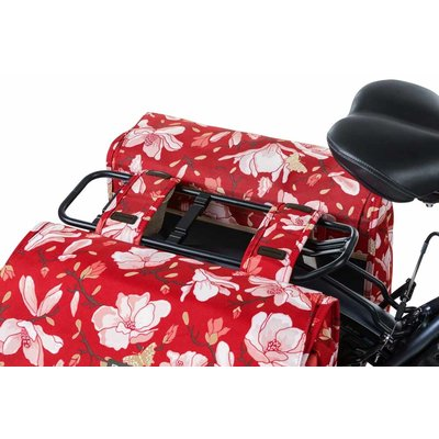 Basil Magnolia - double bicycle bag - 35 liter - poppy red