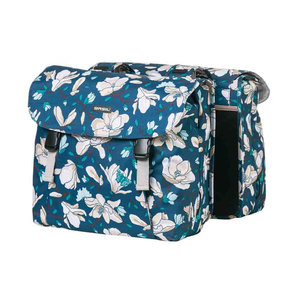Magnolia - double bicycle bag - blue
