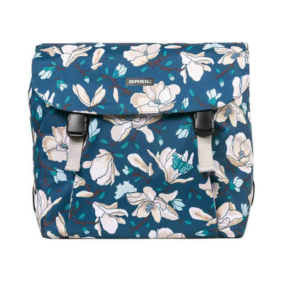 Basil Magnolia - double bicycle bag - 35 liter - teal blue