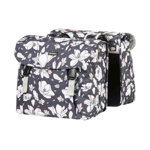 Magnolia - double bicycle bag - dark blue