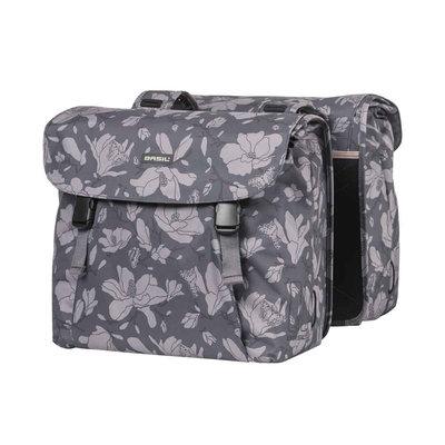 Basil Magnolia - double bicycle bag - 35 liter - blackberry