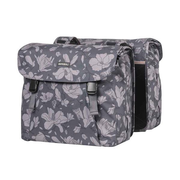 Magnolia - bicycle double bag - dark grey