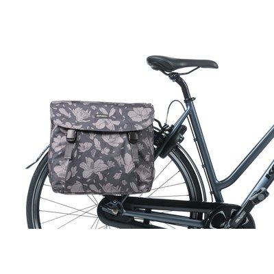 Basil Magnolia - dubbele fietstas - 35 liter - blackberry