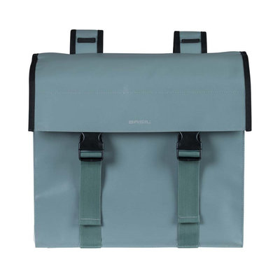 Basil Urban Load - double bicycle bag - 48-53 liter - chinois green/white