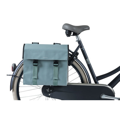 Basil Urban Load - double bicycle bag - 48-53 liter - chinois green/white