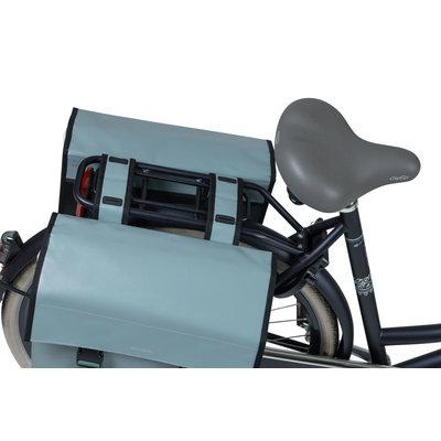 Basil Urban Load - dubbele fietstas - 48-53 liter - chinois green/white
