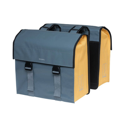 Basil Urban Load - double bicycle bag - 48-53 liter - stormy grey/gold