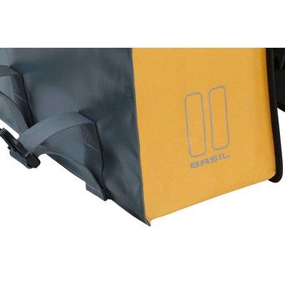 Basil Urban Load - dubbele fietstas - 48-53 liter - stormy grey/gold
