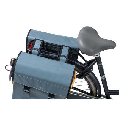 Basil Urban Load - doppelte Fahrradtasche - 48-53 Liter - stormy grey/gold