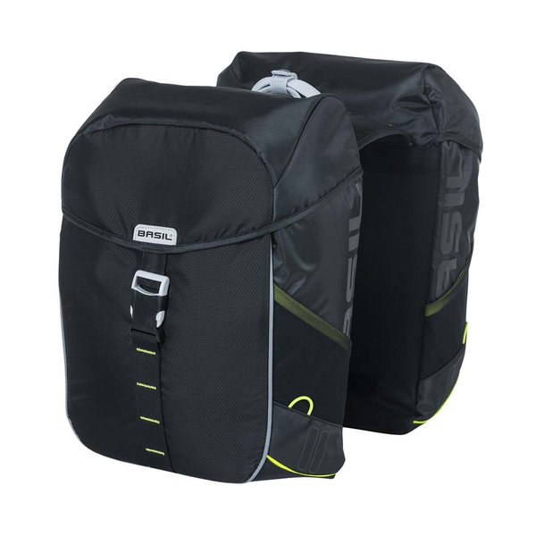Miles - double bicycle bag - black