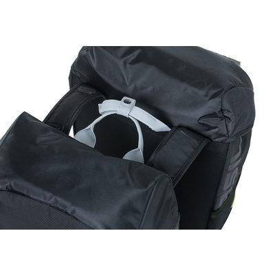 Basil Miles - doppelte Fahrradtasche - 34 Liter - schwarz
