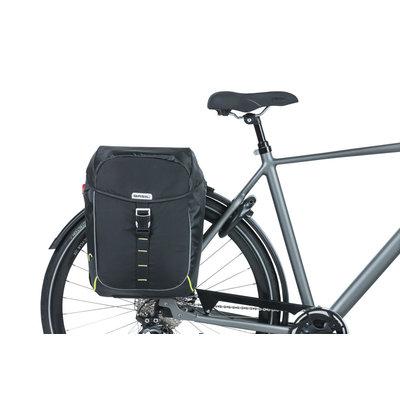 Basil Miles -  dubbele fietstas - 34 liter - zwart
