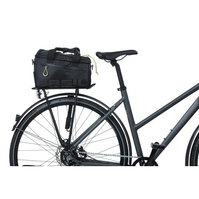 Basil Miles - bagagedragertas - 7 liter - zwart