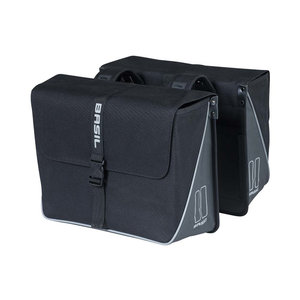 Forte - double bicycle bag - black