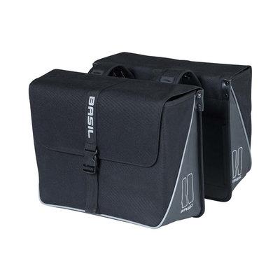 Basil Forte - doppelte Fahrradtasche - 35 liter -schwarz
