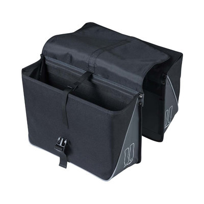 Basil Forte - dubbele fietstas - 35 liter - zwart