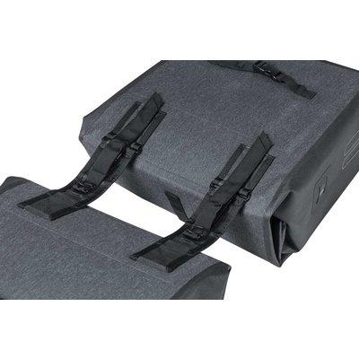 Basil Urban Dry - doppelte fahrradtasche - 50 Liter  - charcoal melee