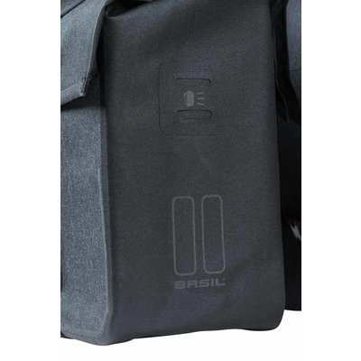 Basil Urban Dry - dubbele fietstas - 50 liter - charcoal melee