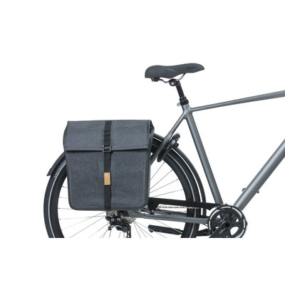 Basil Urban Dry - double bicycle bag - 50 liter - charcoal melee