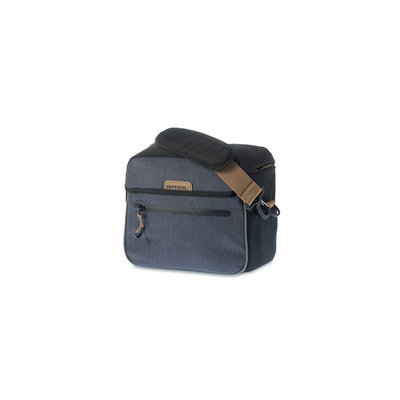 Basil Miles - handlebar bag BE/KF - 6 liter - black/grey