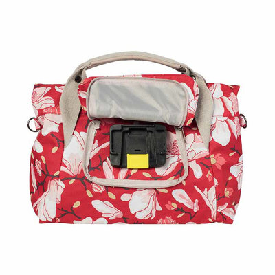 Basil Magnolia - city handlebar bag - 7 liter - poppy red