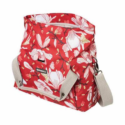 Basil Magnolia - City Lenkertasche - poppy red