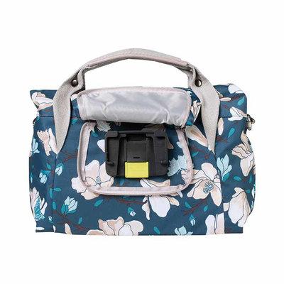 Basil Magnolia - city handlebar bag - 7 liter - teal blue