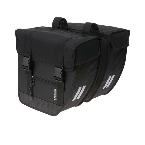 Tour - doppelte Fahrradtasche - schwarz