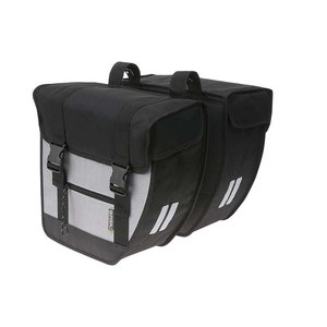 Tour - double bicycle bag - black/silver