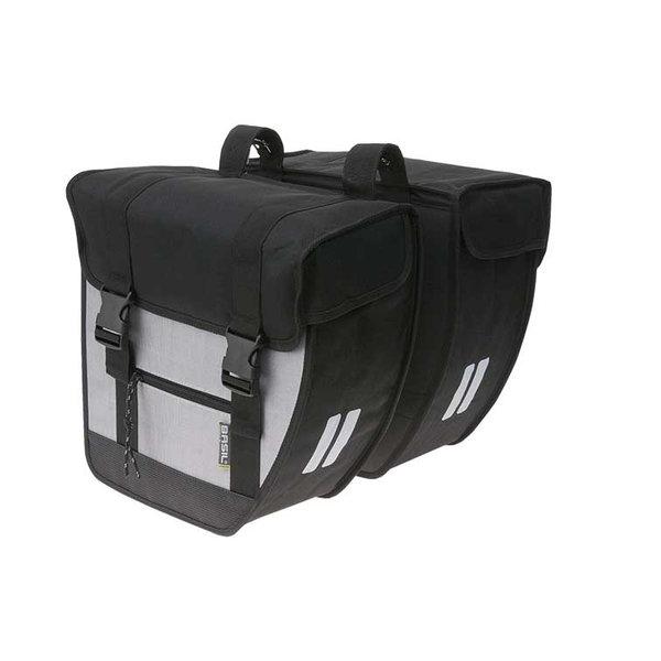 Tour - doppelte Fahrradtasche - schwarz/silber